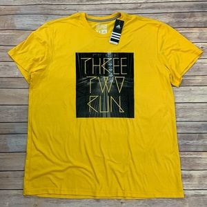 NWT Adidas Three Two Run Graphic Tee